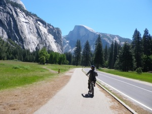 Cycling through Yosemite National Park