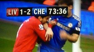 Luis Suarez biting Branislav Ivanovic