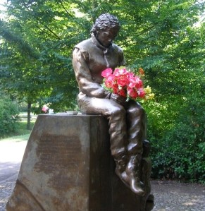 Senna's memorial statue at Imola