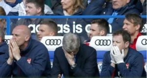 Wenger against Chelsea