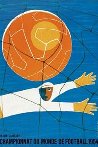 Official 1954 World Cup poster