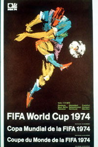 1974 Official World Cup poster