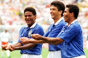 Romario (right) and Bebeto (centre)