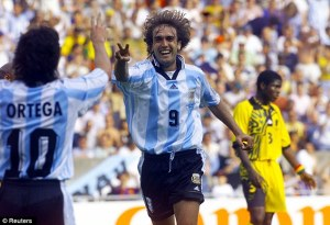 Batistuta and Ortega posed the main threat from Argentina