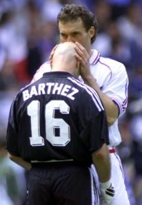 Blanc would kiss Barthez's head before every match commenced