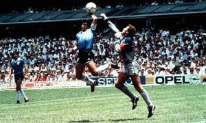 Maradona's first goal against England was beyond questionable