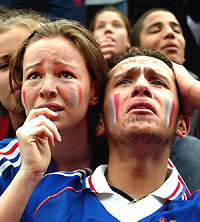 France became the first defending champion to be eliminated in the group stages since 1966