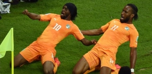 Gervinho scores the winner against Japan