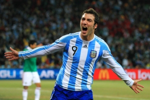 Gonzalo Higuain was Argentina's most potent threat at the 2010 finals