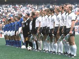 Italy and West Germany line up before their classic 1970 encounter