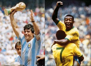 Maradona and Pele are universally considered as the two best players of all-time