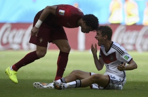 Pepe's retaliation earned him a red card