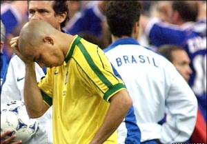 Rumours persist that sponsors forced Brazil to play Ronaldo in the World Cup Final.