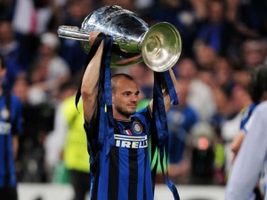 Sneijder excellent season with Inter continued with Holland at the World Cup