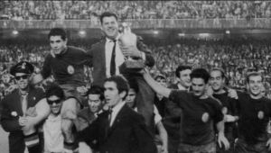 Spain celebrate their 1964 triumph